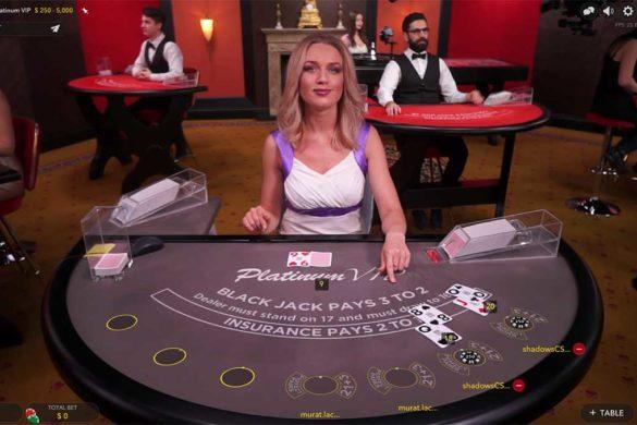 eGaming Live Blackjack Platinum VIP Table
